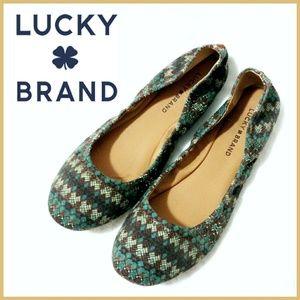 Lucky Brand Tribal Emmie Ballet Flats